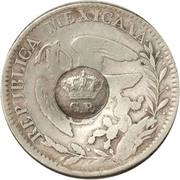 300 réis (contremarqué sur 2 reales - Mexico République) – avers