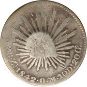 300 réis (contremarqué sur 2 reales - Mexico République) – revers
