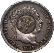 120 réis (contremarqué sur 1 Shilling - Royaume-Uni) - Luis I – avers