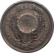 120 réis (contremarqué sur 1 Shilling - Royaume-Uni) - Luis I – revers