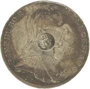 1200 réis (couronne G.P. contremarqué sur 1 thaler - Maria Theresa; Autriche) - Luis I – avers