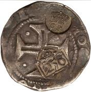 300 réis (contremarqué sur demi cruzado - Jean IV; Portugal) – avers