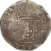 300 réis (contremarqué sur demi cruzado - Jean IV; Portugal) – revers