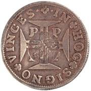 """200 réis (contremerqué sur """"6 vinténs - Pierre II; Porto"""") - Luis I – avers"""