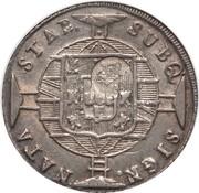 """1200 réis ( contremarqué sur """"960 réis - João VI; Brazil"""") - Luis I – avers"""