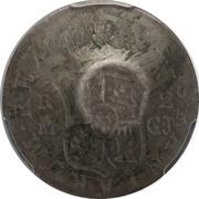 300 réis (contremarqué sur 2 reales - Fernando VI; Espagne) – avers