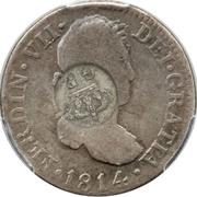 300 réis (contremarqué sur 2 reales - Fernando VI; Espagne) – revers
