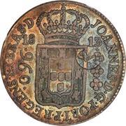 1200 réis (contremarque sur 960 Réis; Bresil) - Luiz I – avers