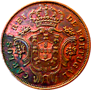 5 réis - Charles I – avers
