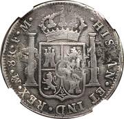 1200 réis (contremarqué sur 8 Reales - Carlos IIII, Espagne) - Luis I – revers