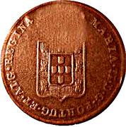 20 réis (contremarqué sur 20 réis - Marie II; Mozambique) - Luiz I – revers