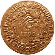 10 réis (contremarqué sur 5 réis - Maria I; Açores) - Luiz I – avers