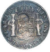 600 réis (contremarqué sur 4 reales - Carlos III; Bolívia) – avers