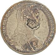 1200 réis (contremarqué sur 1 Thaler - Maria Theresa; Austria) - Luis I – avers