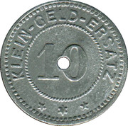 10 pfennig - Adelsheim – revers