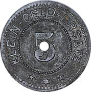 5 pfennig - Adelsheim – revers
