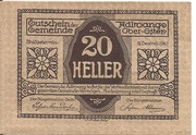 20 Heller (Adlwang) – avers