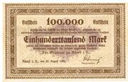 100,000 Mark (Adorf im Vogtland) – avers