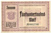 500,000 Mark (Adorf im Vogtland) – revers