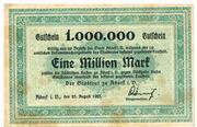 1,000,000 Mark (Adorf im Vogtland) – avers
