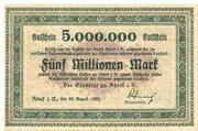 5,000,000 Mark (Adorf im Vogtland) – avers
