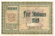 5,000,000 Mark (Adorf im Vogtland) – revers