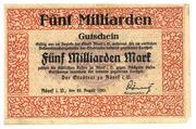 5,000,000,000 Mark (Adorf im Vogtland) – avers