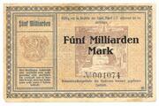 5,000,000,000 Mark (Adorf im Vogtland) – revers