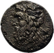Obol - Zeus, Horseman (Adramytion, Mysia) – avers