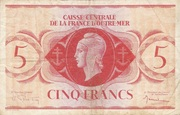 5 Francs Type 1943 – avers