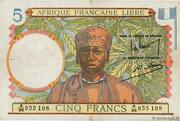 5 francs Afrique Française Libre – avers