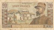 20 Francs Gentil -  avers