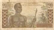20 Francs Gentil -  revers