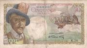 50 francs D'Esnambuc – avers