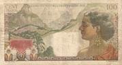 100 Francs La Bourbonnais – revers
