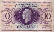 10 Francs Type 1941 -  avers