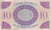 10 Francs Type 1941 -  revers