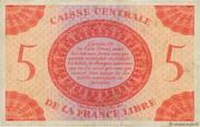 5 Francs – revers