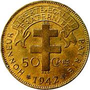50 centimes -  revers