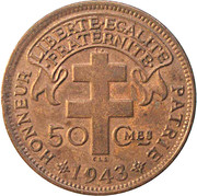 50 centimes -  revers