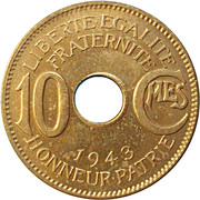 10 centimes – revers