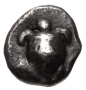 Hemiobol (Aegina) – avers