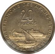 20 francs (essai) – revers