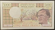 5000 Francs 1975 – avers