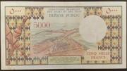 5000 Francs 1975 – revers