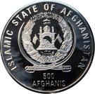 500 Afghanis Jeux olympiques d'été Sydney 2000 – avers