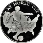500 afghanis Coupe du monde de football USA 1994 – revers