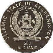 500 afghanis (Coupe du monde de football France 1998) – avers