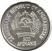 500 afghanis (Jeux Olympiques d'été à Séoul 1988 - Volley-ball) -  avers