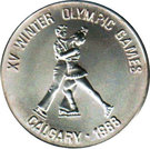 500 Afghanis (Jeux Olympiques Calgary 1988) – revers